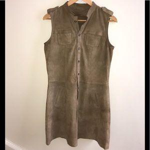 Massimo Dutti Genuine Leather Mini Dress